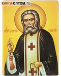 Икона прп. Серафим Саровский. Полиграфия, дерево, лак