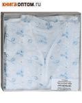 Крестильный набор «Нежный» (рубашка, пеленка-уголок). Возраст 6-24 месяца. Вышитая х\б, кружево
