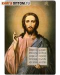 Икона Господь Вседержитель. Полиграфия, дерево, лак