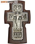 Крест гальванический настенный из ясеня, посеребрение
