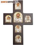 Крест с иконами. Дерево, серебрение