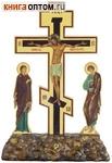 Крест Голгофа с предстоящими, цветной (высота креста 190мм)