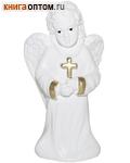 Ангел с крестом (с блестками, гипс)