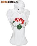 Ангел с цветами (с блестками, гипс)