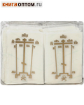 Наклейка-крест для освящения дома. Прозрачная пленка (золото, р.40х60 мм, 200 шт)
