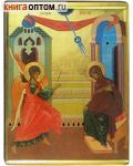 Икона Благовещение Пресвятой Богородицы. Полиграфия, дерево, лак