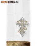 Закладка для Евангелия, белая из габардина, 150 мм