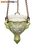Лампада керамическая подвесная малая с золотом