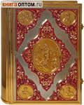 Напрестольное Святое Евангелие в цельнометаллическом окладе. Позолота, эмаль, закладка. Церковно-славянский шрифт