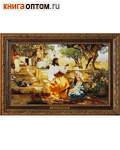 Христос у Марфы и Марии. Г. И. Семирадский. Репродукция на холсте. Багет. Размер изображения 400*250 мм