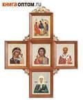Иконостас в виде креста. Размер икон 110х130мм