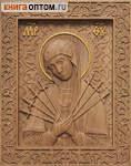 Икона резная Пресвятая Богородица Семистрельная