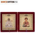 Складень св.вмч. Пантелеймон - св. Лука. Размер иконы 12,5*15см