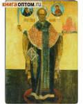 Икона святитель Николай Чудотворец (Можайский). Полиграфия, дерево, лак