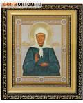 Икона святая блаженная старица Матрона. Киот (узкий), багет, стразы, стекло