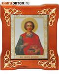 Икона Святой великомученик и целитель Пантелеимон, в деревянной рамке