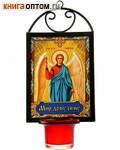 Икона Ангел Хранитель с лампадой, на подвесе