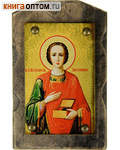 Икона на дереве Святой целитель Пантелеимон