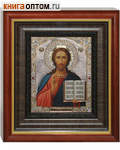 Икона Господь Вседержитель аналойная малая. Киот, багет, стекло