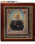 Икона святая блаженная Матрона Московская аналойная. Киот, багет, стекло
