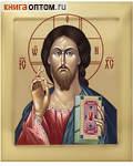 Икона аналойная Господь Вседержитель. Дерево, ручное золочение (поталь), с ковчегом