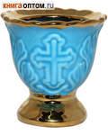Лампада керамическая настольная с золотом
