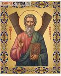 Икона аналойная малая св.ап. Андрей Первозванный. Дерево, ручное золочение (поталь)