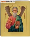 Икона аналойная св. ап. Андрей Первозванный. Дерево, ручное золочение (поталь), с ковчегом