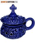 Кадильница настольная керамическая синяя