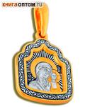 Икона двухсторонняя Пресвятая Богородица Казанская, серебро с чернью и позолотой 5 мкр. Au 999