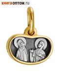 Икона двухсторонняя Святые Благоверные Петр и Феврония Муромские (cеребро 925 пробы, позолота 999 пробы)