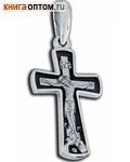 Крест нательный (серебро с чернью)