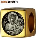 Бусина Апостол и Евангелист Лука, серебро с чернью, позолотой 5 мкр. Au 999, эмаль