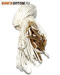 Гайтан белый с замком закруткой. Длина 60см, упаковка 10шт
