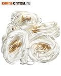 Гайтан шелковый с замком закруткой, белый. Длина 60см, упаковка 100шт