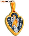 Икона двухсторонняя Ангел Хранитель, серебро с чернью и позолотой 5 мкр. Au 999