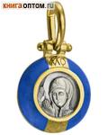 Икона Богородица молящаяся (серебро 925 пробы, позолота 999 пробы, горячая эмаль)