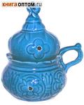 Кадильница настольная, цвет голубой, керамика