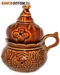 Кадильница настольная, цвет коричневый, керамика