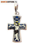 Крест нательный, серебро, горячая эмаль (Ag 925)
