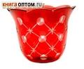 Лампада стеклянная с узором рубин